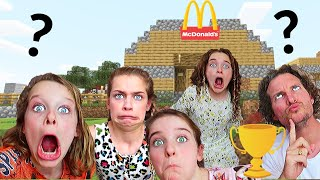 WHICH KID BUILDS BEST RESTAURANT *winner announced* Minecraft Gaming w/ The Norris Nuts