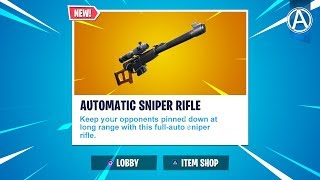 """NEW """"TILTED TOWN"""" POI Gameplay! NEW AUTOMATIC SNIPER RIFLE Gameplay (Fortnite LIVE UPDATE)"""