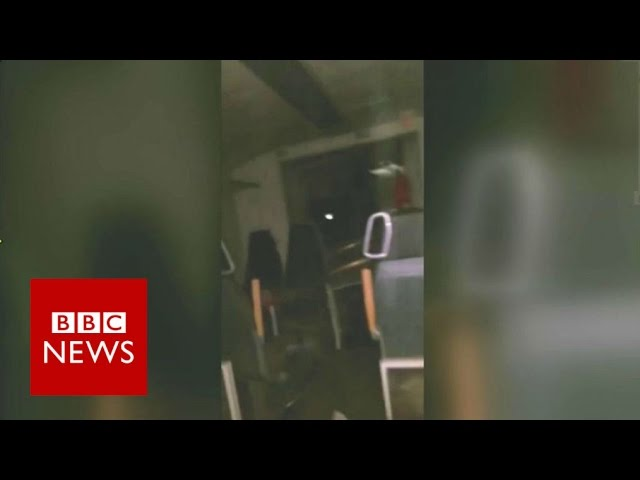 Germany Train Crash: Passenger films moments after impact - BBC News