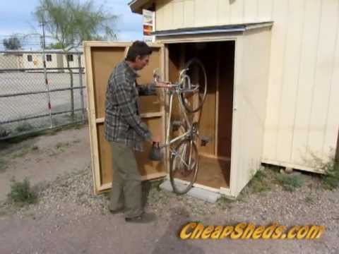 Compact Vertical Bike Storage Shed Plans Video Youtube
