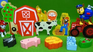 Farm Animal Puzzle Alphabet Letter Sounds ABC Song Best Learning Video for Kids Paw Patrol Toys
