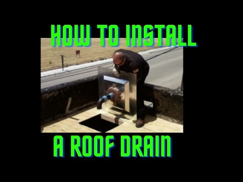 Install Roof Roof Drain Installation