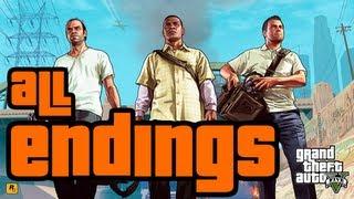 GTA 5 - ALL ENDINGS (Story Mode) [HD]