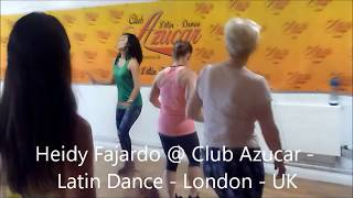 Heidy Fajardo @ Club Azucar - Latin Dance - London, UK