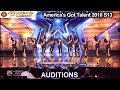 Junior New System JNS FILIPINO High Heels Dance Group Americas Got Talent 2018 Auditions S13E01