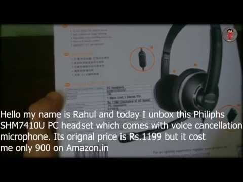 Philips SHM7410U/97 Wired Headset Review + Unboxing