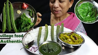 Food of village Authentic Healthy Food mukbang (Indian Food)