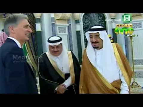 british foreign minister philip hammond visits saudi