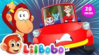 DRIVING IN MY CAR and More Popular Nursery Rhymes | Little BoBo Songs - FlickBox Kids
