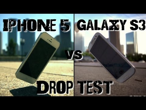 Drop Test: iPhone 5 vs Samsung Galaxy S3