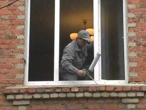 Установка пластикового окна в кирпичном доме своими