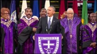 Obama canta Amazing Grace en funeral de Charleston