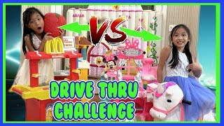 Pretend Play Mcdonalds Drive Thru with Ryan's Toy Review Toys ( Mcdonalds Drive Thru Prank )