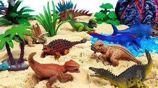 쥬라기월드 슐라이히 미니공룡세트 공룡 화산섬 티렉스 안킬로사우루스 케찰코아툴루스 피규어 장난감 놀이