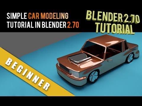 Simple Car Modeling Tutorial In Blender 2.70