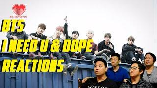 Download Lagu [4LadsReact] BTS (방탄소년단) - I NEED U (19+) MV & DOPE (쩔어) LIVE Reactions Gratis STAFABAND
