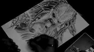 SPEED DRAWING #6 -  the Predator