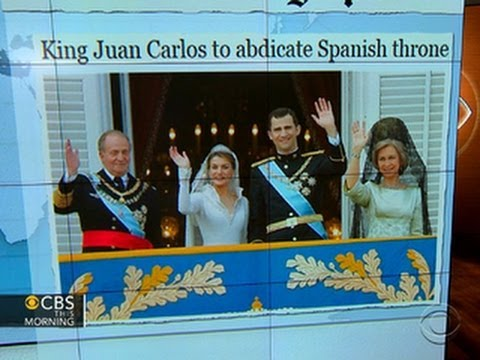 Headlines at 8:30: Spain's King Juan Carlos to abdicate throne