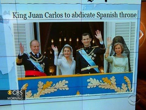 Headlines at 8:30: Spain's King Juan Carlos to abdicate throne