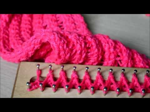 tejer en telar rectangular ♥ ♥ ♥ bufanda sin fin