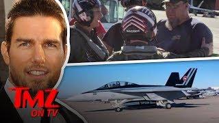 Tom Cruise AKA Capt. Pete Maverick Reporting For Flight Duty   TMZ TV