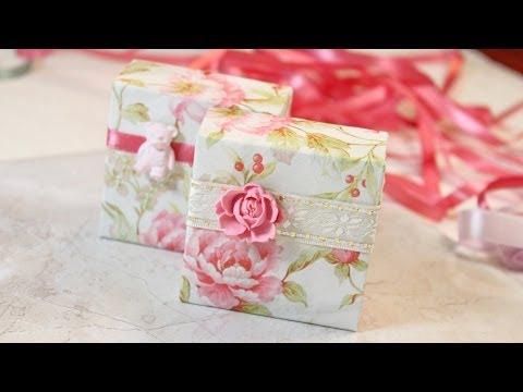 Красивая коробка своими руками для подарка