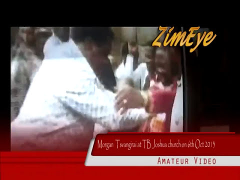 Tsvangirai Falls Down At TB Joshua's Church