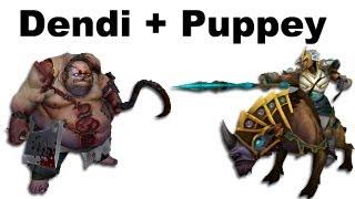 Dendi Pudge Puppey Chen fountain hooking - NaVi vs TongFu - Dota 2 #ti3