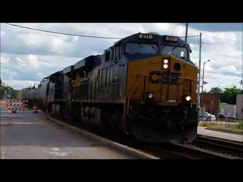 [CSX] Q410-05 With [911] Leading & A very Long Train & KILLER K5h Action In Fayetteville NC