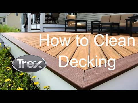How to clean trex transcend composite decking youtube for Building a composite deck