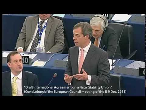 EU Bypassing Referendums on Fiscal Union Treaty - Farage/Barroso