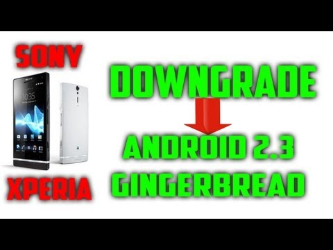 HOW TO★ Downgrade From ICS to GB on Sony Xperia Sola,P,U,S,Mini,Neo ...