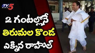 Rahul Is The Fastest Politician To Reach Tirumala In 1 Hour 50 Minutes By Walk