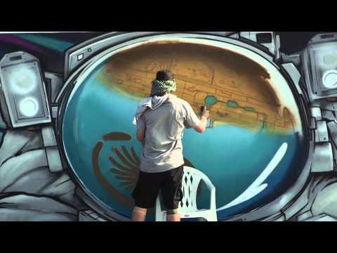 Ironlak Family at Rehlhatna in Dubai – World's Longest Graffiti Scroll