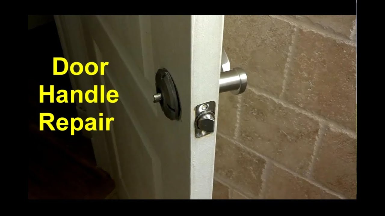 Home door handles loose or broken diy fixes home repair for How to fix a bathroom door lock