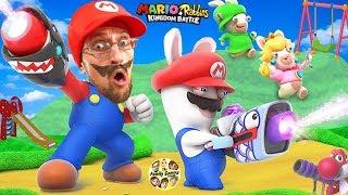SUPER HERO MARIO vs. PLAYGROUND RABBIDS Skit! FGTEEV plays Mario + Rabbids Kingdom Battle (Switch)