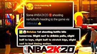NBA 2K20 NEW UPDATE IS COMING FOR SHOOTING MIKE WANG & LD2K CONFIRM NEW PATCH SHOOTING & STRETCHES!