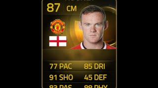 FIFA 15 IF ROONEY 87 Player Review & In Game Stats Ultimate Team
