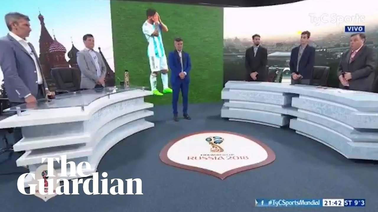 Argentina TV hosts hold moment's silence after defeat to Croatia