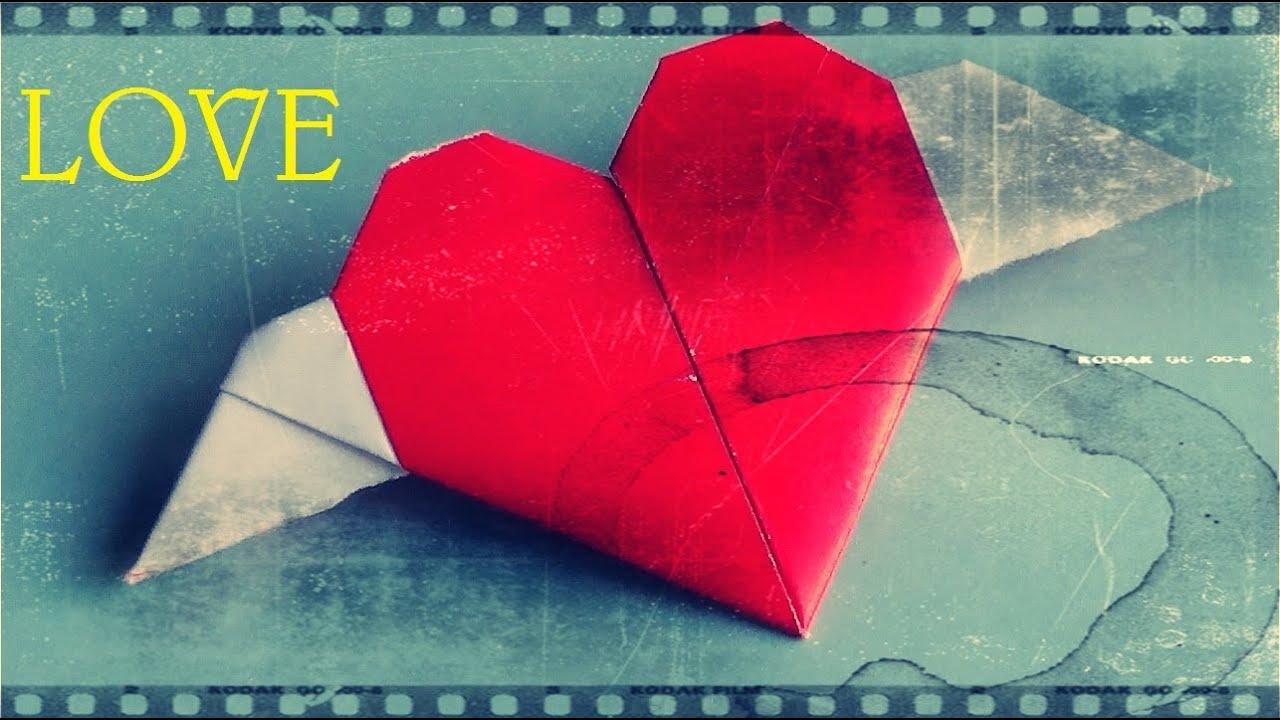 Coraz n con alas de papel papiroflexia youtube - Como hacer un corazon con fotos ...