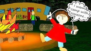 PLAYTIME GOES CAMPING! (I Wanna Camp With Someone...) | Baldi's Basics Roblox Roleplay