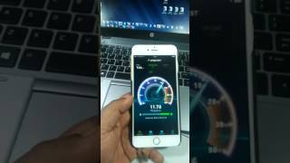 Reliance Jio 4G Speed Test on iPhone 6s plus._insane speed
