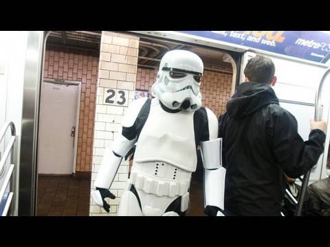 Star Wars Subway Car Video
