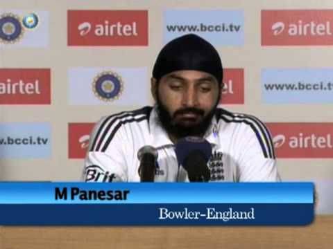 India vs England 2012, 2nd Test match, Day One: Monty Panesar press conference