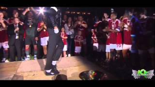 Kevin Prince Boateng Moonwalk Dance Michael Jackson Tribute | AC MILAN | (Full Video) HD.