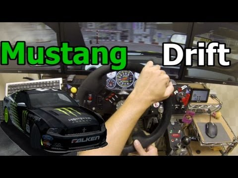 rFactor Mustang Drift Cockpit Play in Shibuya