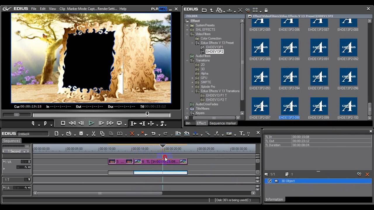 Как сделать видео в эдиус прозрачным