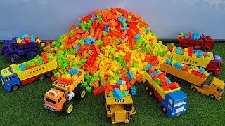 Top Blocks Toys For Kids | Learn Colors With Block Toys And Car Toys Excavator Dump Truck