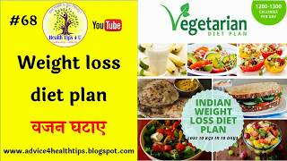 #68 Weight loss diet plan | वजन घटाए | weight loss| diet | Health Tips4U