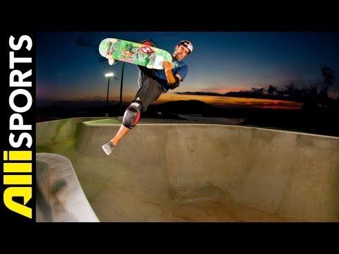 Sandro Dias' Skate Camp, Cement Bowl, Vert Ramp + More, Alli Sports Space Invader